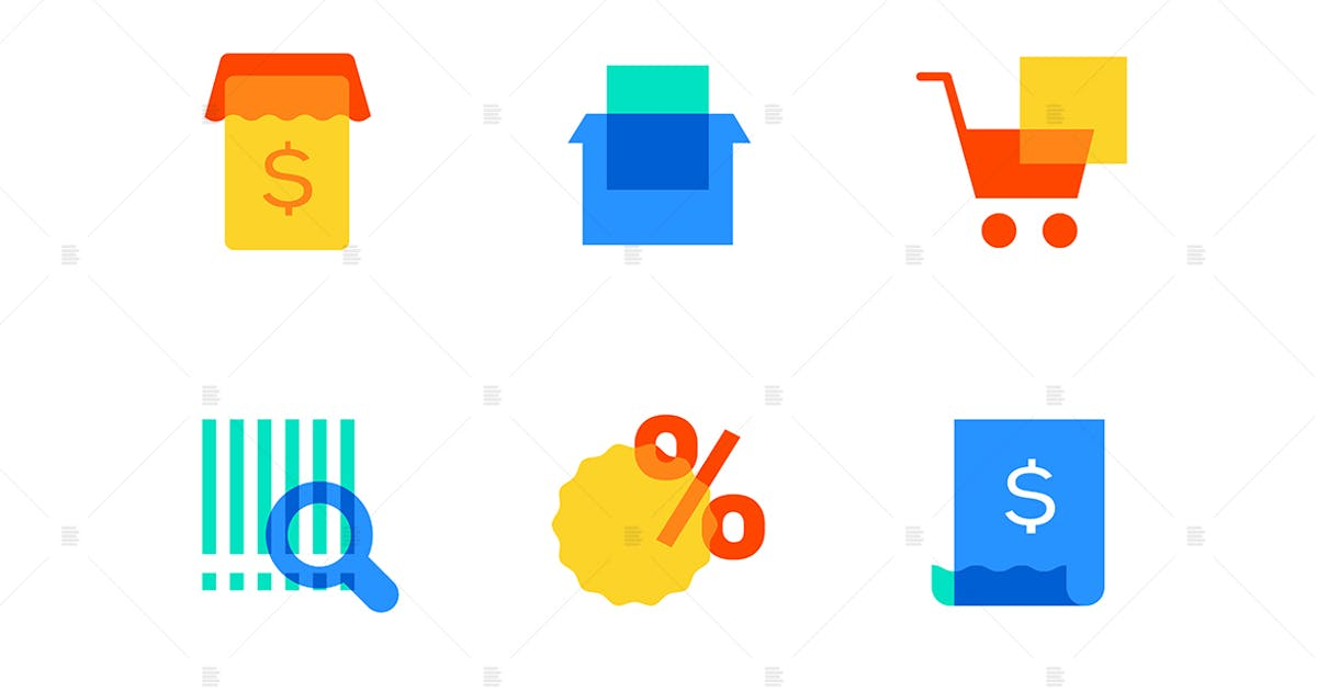 Download E-commerce - modern flat design style icons set by BoykoPictures