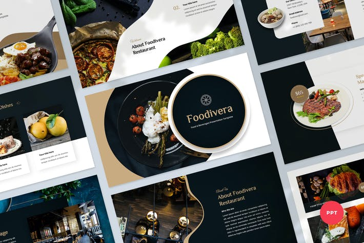Thumbnail for Food & Beverages Powerpoint Presentation Template