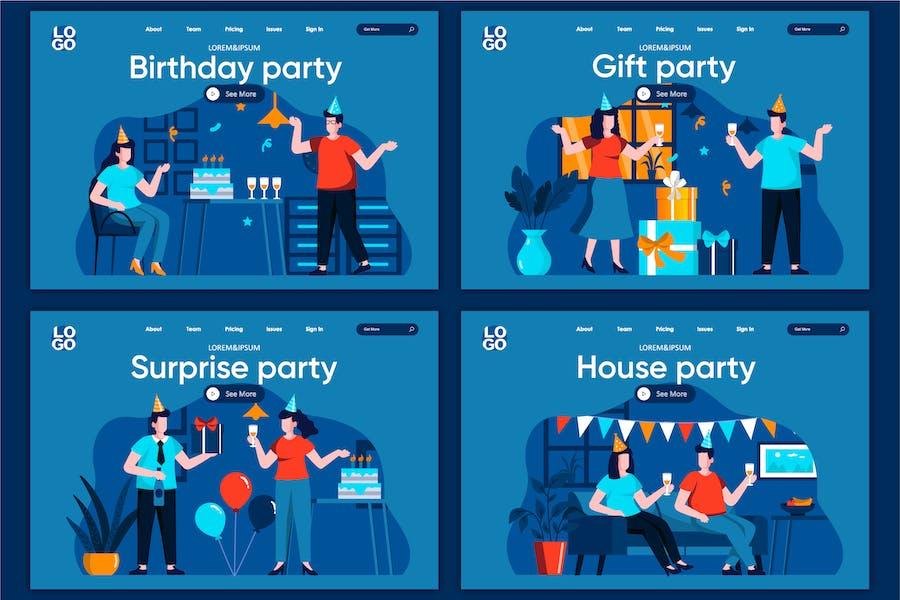 Modèle de page d'accueil Concept de Party Surprise