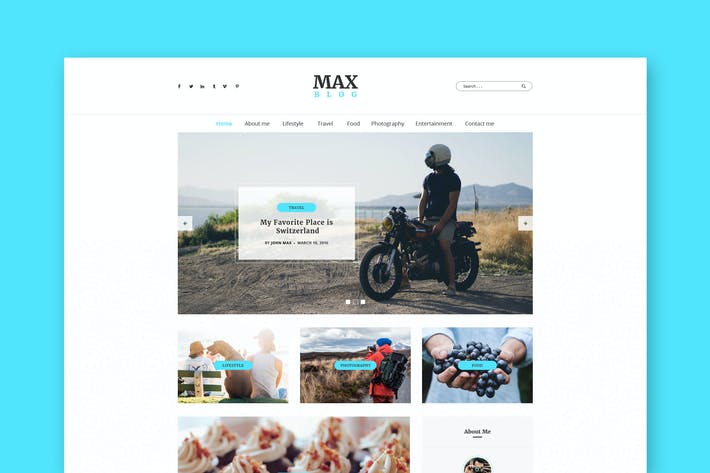 Thumbnail for Max Blog - Personal Blog PSD Template