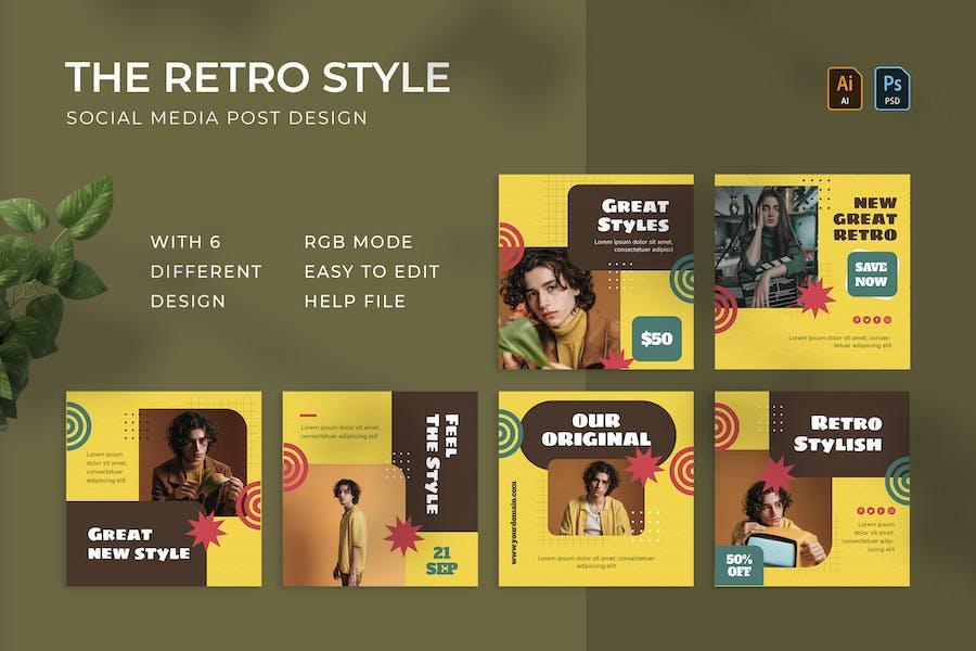 Retro Style | Instagram Post
