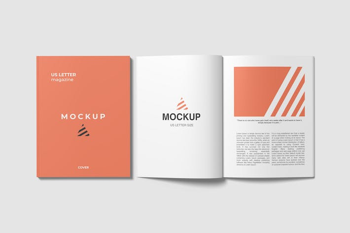 Thumbnail for Open and Closed US Letter Magazine Mockups