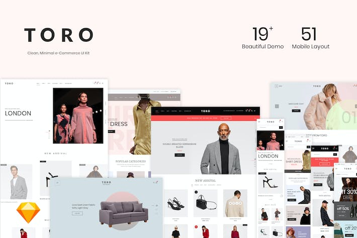 Thumbnail for TORO - Clean, Minimal e-Commerce UI Kit