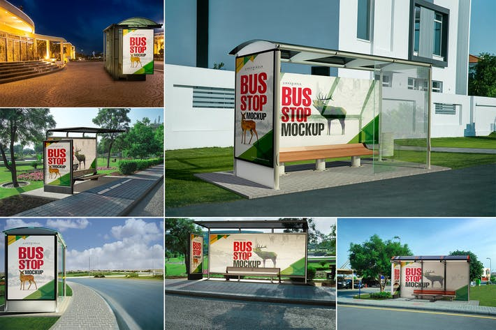 Thumbnail for Bus Stand Mockups