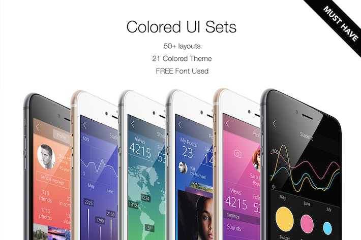 Cover Image For Colored UI Sets 21 Color