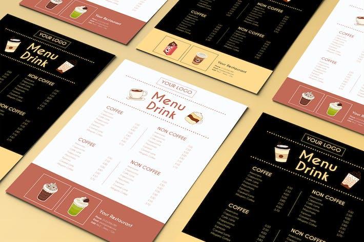 Thumbnail for Modèle de menu de boissons au jus