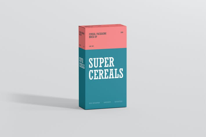 Thumbnail for Cerealien Box Mockup - Slim Size