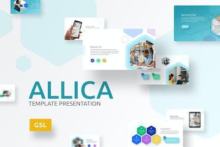 Allica - Hexagonal Google Slides Template