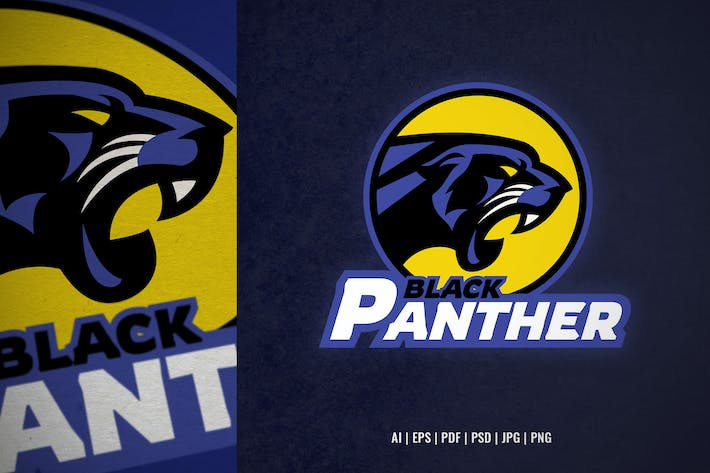 black panther head logo template
