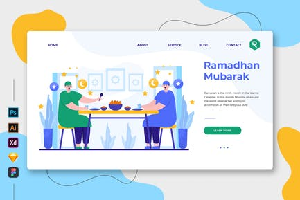 Ramadhan Mubarak - Web & Mobile Landing Page