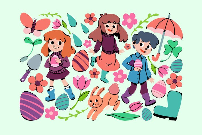 Thumbnail for Kids' Easter Clipart