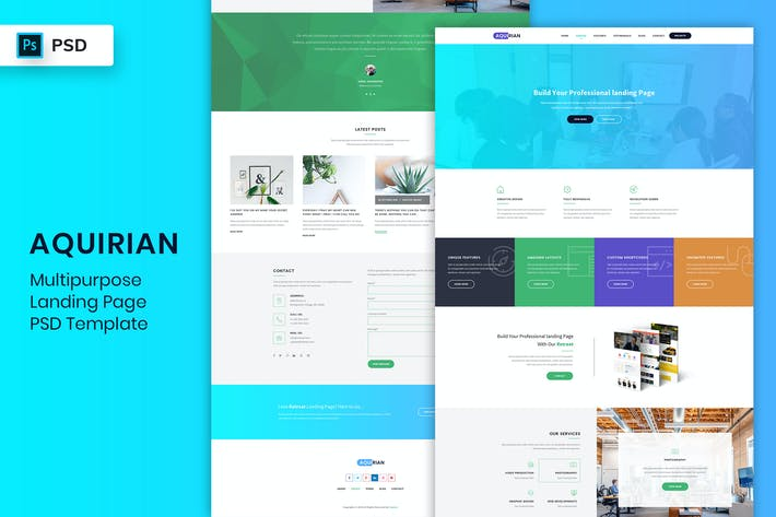 Thumbnail for Multipurpose - Landing Page PSD Template