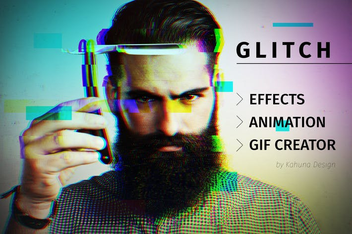 Thumbnail for Glitch effect with GIF animation