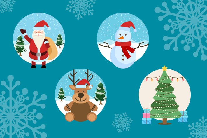 Thumbnail for Christmas Vector Illustrations