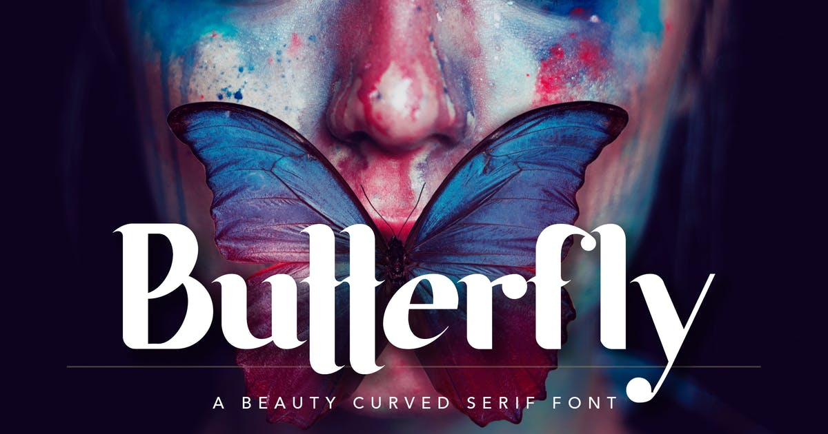 Download Butterfly Beauty Font by peterdraw