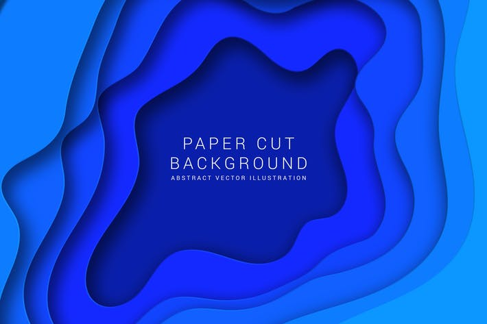 Cover Image For Paper cut background