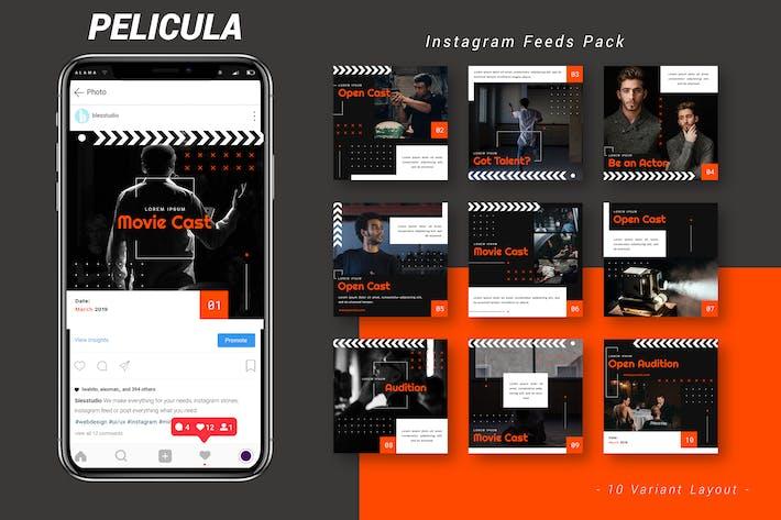 Thumbnail for Pelicula - Instagram Feeds Pack