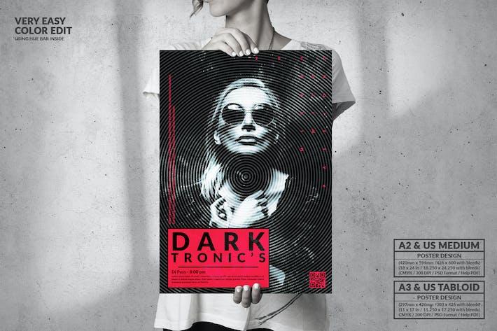 Thumbnail for Dark Tronics - Большой музыкальный дизайн плаката