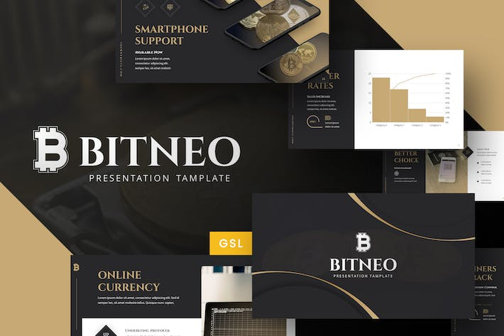 Thumbnail for Bitco - Cryptocurrency Google Slides Template