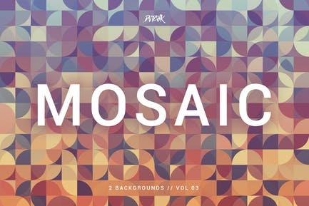 Mosaic| Abstract Gradient Backgrounds | Vol. 03