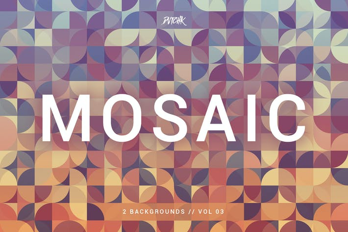 Cover Image For Mosaic| Abstract Gradient Backgrounds | Vol. 03