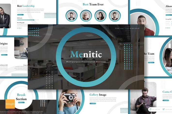 Thumbnail for Menitic - Business Google Slides Template
