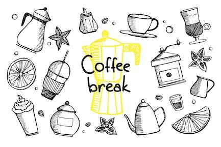 Coffee Break - Garabatos de café
