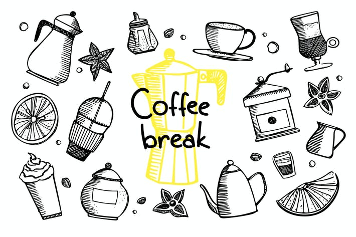 Thumbnail for Coffee Break - Coffee doodles