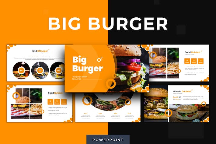 Thumbnail for Big Burger - Powerpoint Template