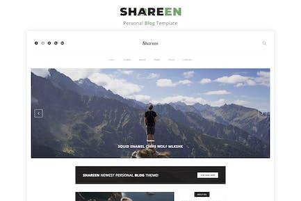 Shareen - Persönliche Blog-Vorlage