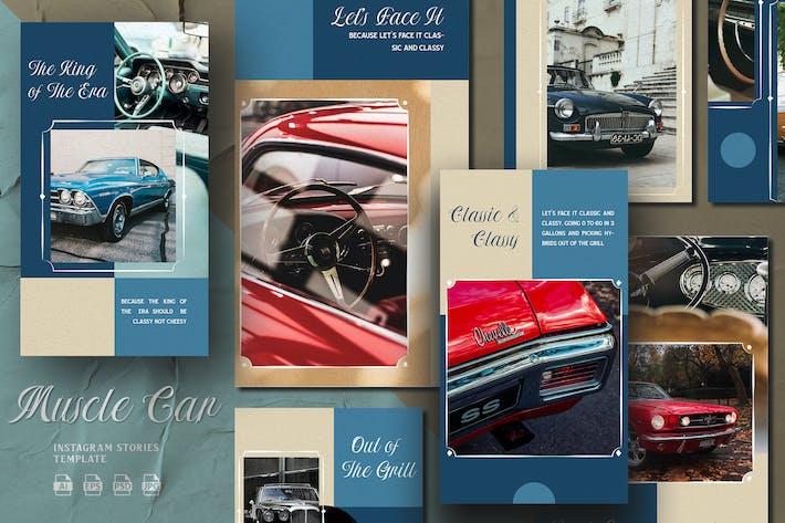 Thumbnail for Vintage Color Muscle Car - Instagram Stories