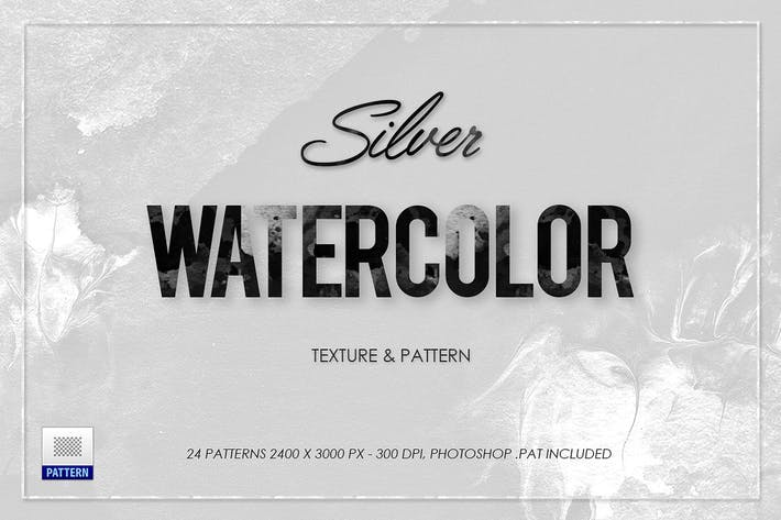 Cover Image For White Silver Watercolor Texture