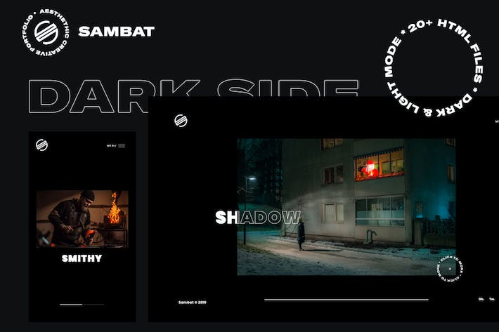 Thumbnail for Sambat - Creative Digital Portfolio HTML Template
