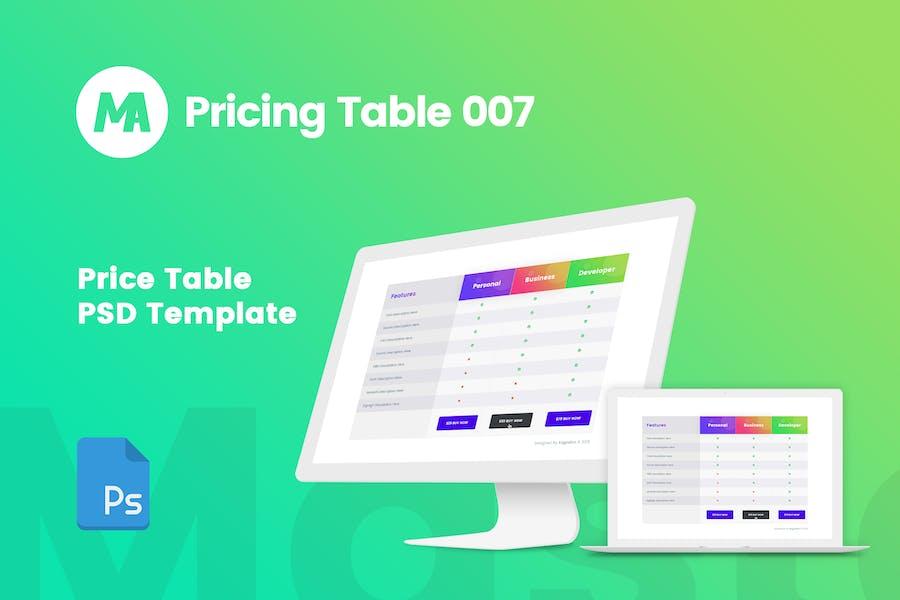 MA - Pricing Table 007