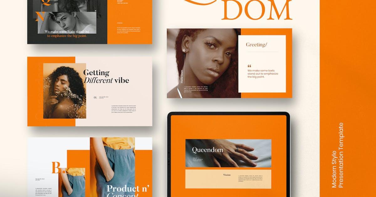 Download QUEENDOM - Lookbook Design Powerpoint by dirtylinestudio