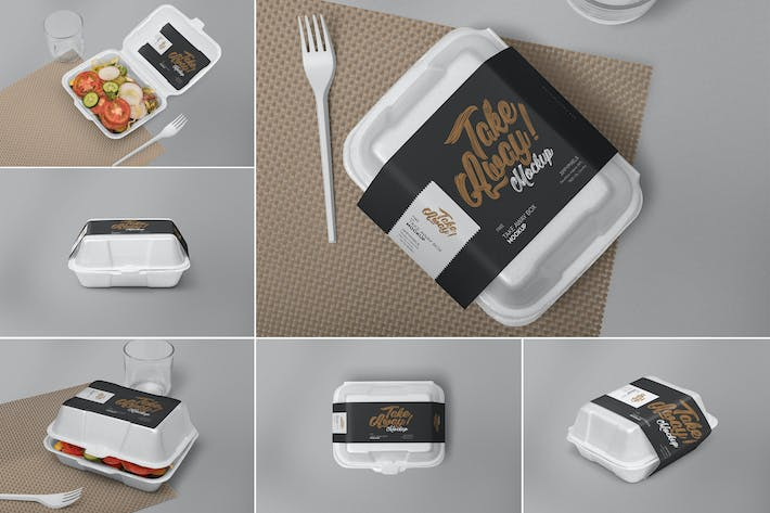 Thumbnail for 6 Disposable Food Packaging Mockups