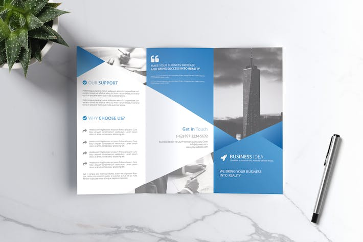 Thumbnail for Company Trifold Brochure Vol. 02