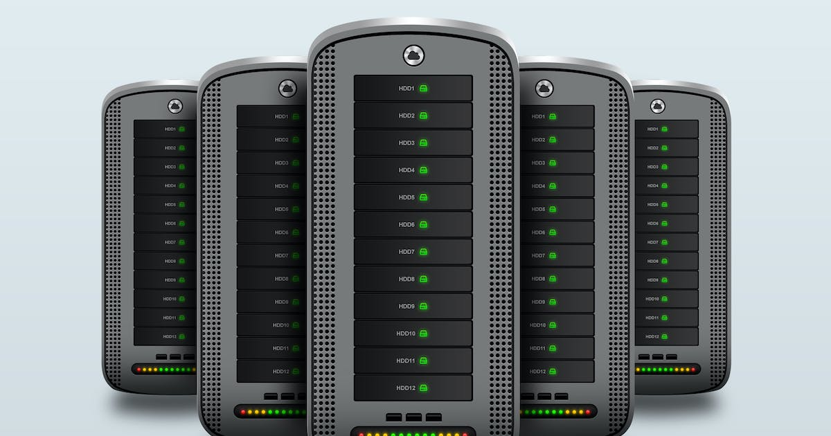 Download Hosting Server Pro Series GRAY Front View by BooStock