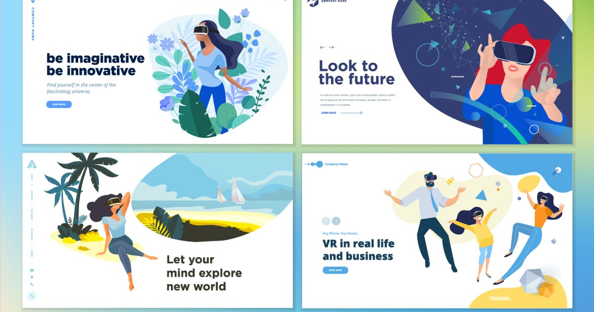 Download Web design templates of virtual reality by PureSolution