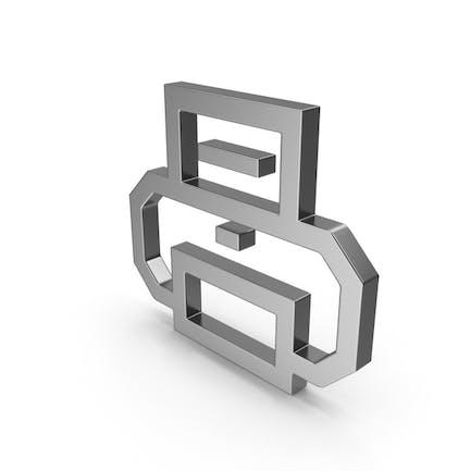 Símbolo Impresora Acero