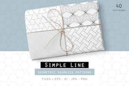 Patrones geométricos de líneas Simple
