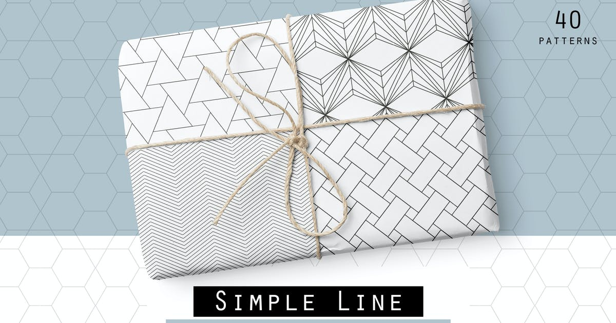 Download Simple Line Geometric Patterns by Youandigraphics
