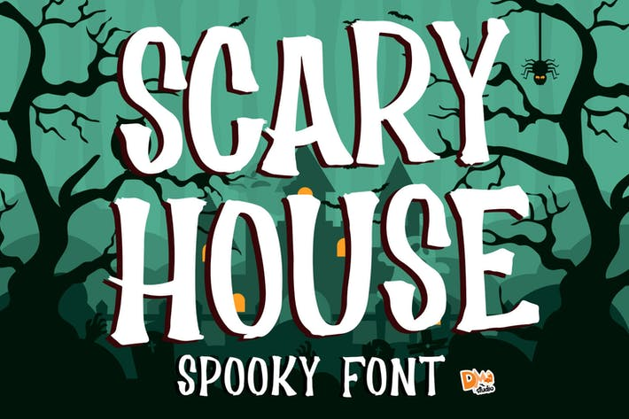 Thumbnail for Scary House - Spooky Font