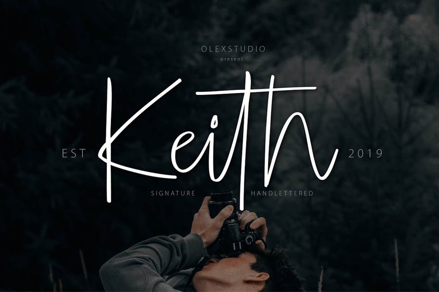 KEITH - Handlettering script