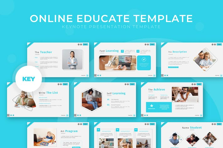 Thumbnail for Online Educate - Keynote Template