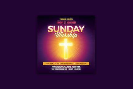 Sunday Worship Church Flyer