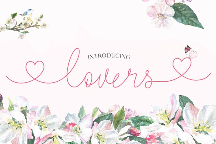 Thumbnail for Lovers Script Font