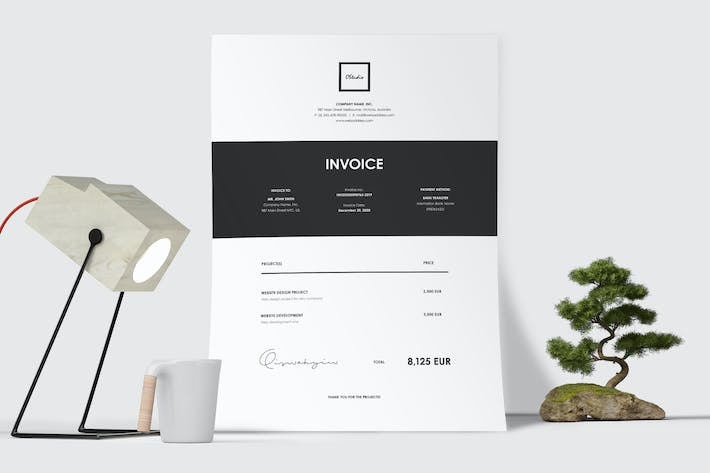 Thumbnail for Minimal Invoice Template 45
