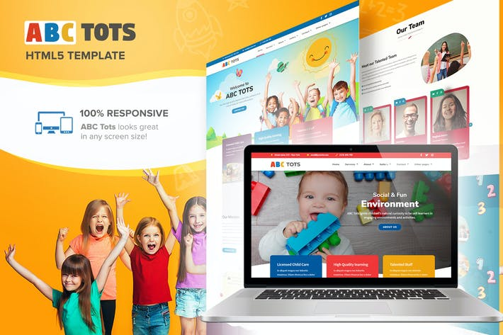 Thumbnail for ABC Tots - Responsive HTML5 Template