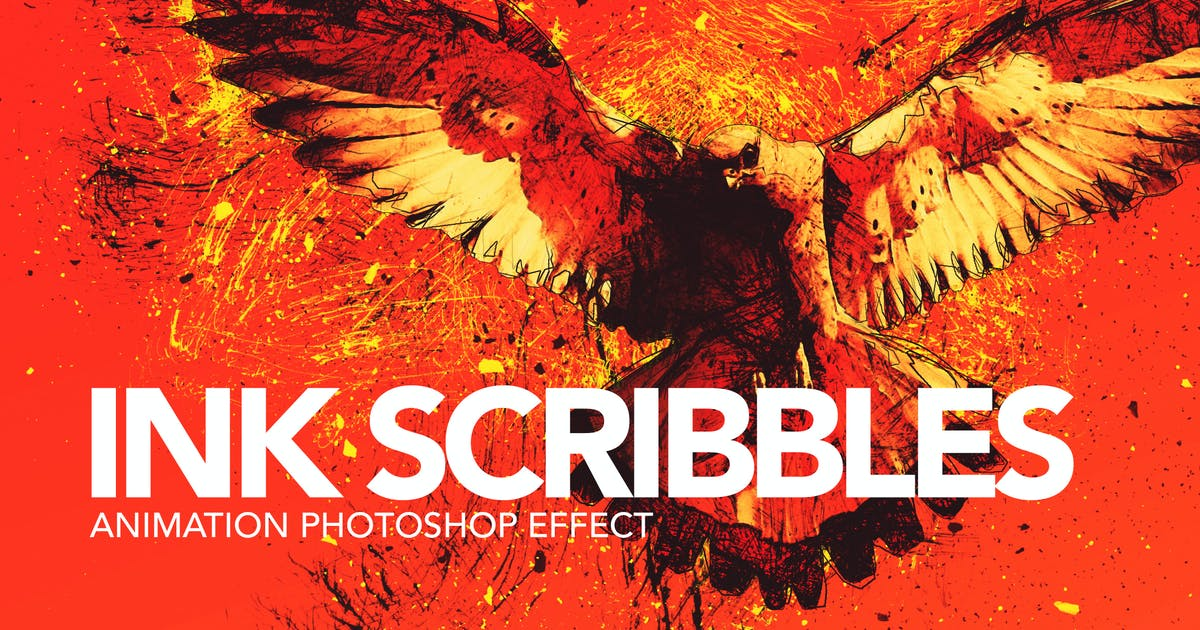 Download Ink Scribbles Animation Photoshop Action by sreda